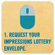 Graphic with instructions for the Impressions Lottery in Asheville