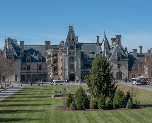 Biltmore Estate near Asheville during the holidays