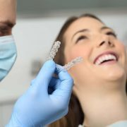Woman smiles during Impressions aligners consultation in Asheville, NC